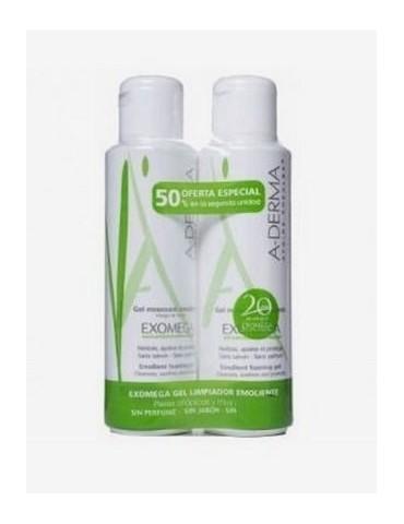 Aderma Exomega gel limpiador 500ml duplo