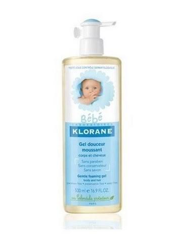 Gel Klorane cuerpo-cabello bebé 500ml